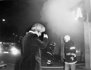 Branden på Priscilla. Sava Paunovic, ägare till restaurang Priscilla, fick se stället förstöras på måndagskvällen.