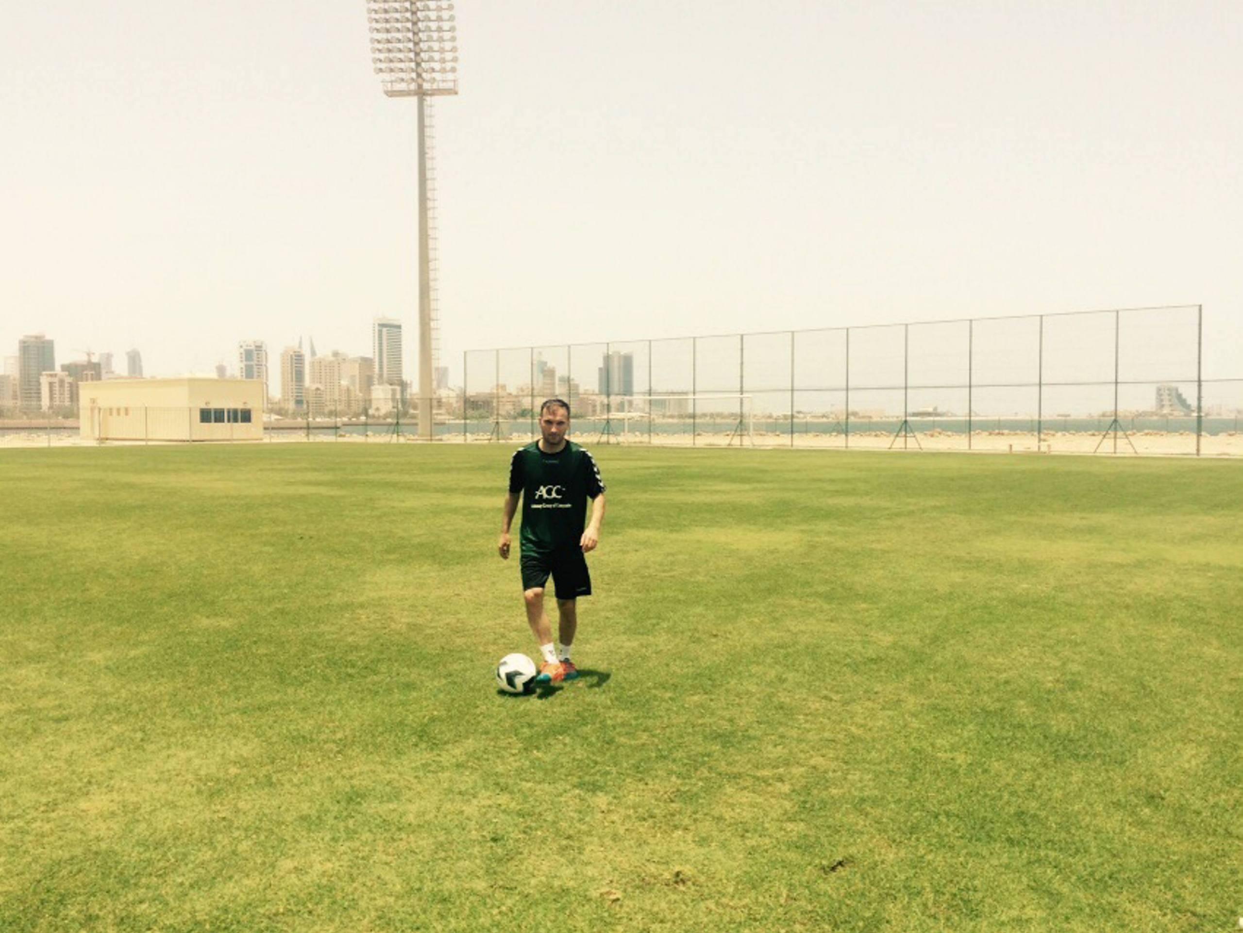 Fotbollslandslaget moter bahrain
