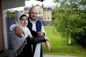Husam Aljarba tillsammans med sin fru Hanin.