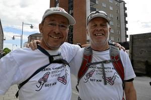 Välgörare. Hans Baatz och Gunnar Håwi springer 50 mil i loppet de själva lagt upp: Lysekil Charity Run.