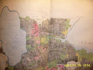 Så här såg Alfta kyrkby ut 1779.