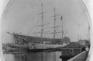 Norra varvet i Gävle före 1869 års brand.