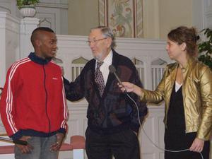 Från vänster Patrick Kibiwot, Gillis Norman och Annette Folkegård.