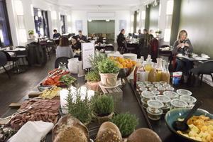 Ekologisk frukost på Hotel Astoria.   Foto: Brøchner Hotels