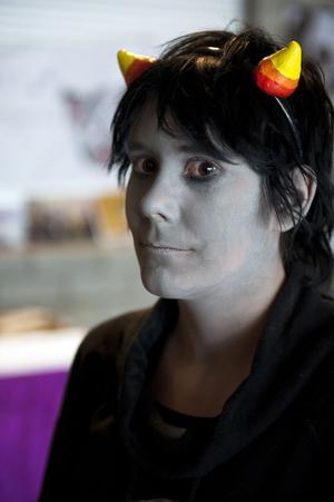 Sandra Karlsson från Borlänge valde en lite mörkare karaktär i dag.