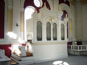 Schusterorgeln i gamla metodistkyrkan, före detta KFUM-lokalen, kan komma att flyttas.