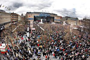 Stortorget fylldes över sina bräddar när Brynäs IF:s guldlag firades.