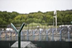 Bakom den här taggtråden på Skogomeanstalten satt Hagamannen den sista tiden av sitt fängelsestraff.