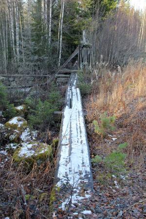 Bristen på underhåll märks tydligt när man närmar sig dammen.
