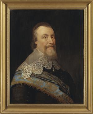Porträtt av Axel Oxenstierna, rikskansler och Sveriges mäktige man under 1600-talets förra hälft. Det är målat av Michiel van Miereveld i Delft, Holland 1635.