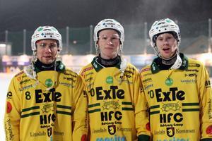 LBK:s målskyttar, Tobias Björklund (2), Jonas Engström och Kalle Mårtensson.