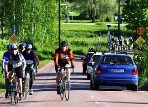 Cyklar åt alla håll. Det blev några röriga morgontimmar i Gesunda. Foto: Lars-Erik Klockar