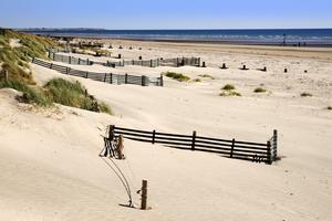 Sanddyner som lockar britterna är West Wittering Beach i Sussex.