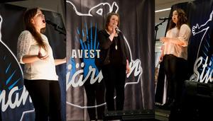 Sara Vivas, Jennifer Sandberg och  Wiktoria Sjöberg kvalificerade sig till finalen i Avesta Stjärnan i lördags.