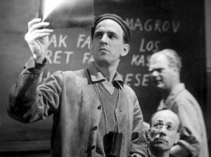 Ingmar Bergman under inspelningen av