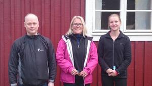 Stefan Burchardt, Helena Jansson och Fanny Storm.