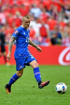 Ari Skúlason orsakade en straff under gårdagens match mot Österrike men fick ändå jubla till slut.