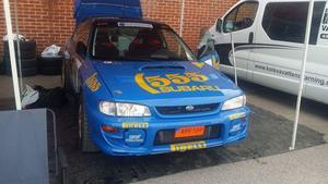Bilen som de ställer upp med har ägts av ingen mindre än Colin Mcrae, en legend inom rally.