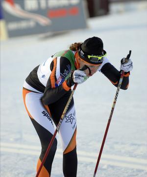 Sara Lindborg, Falun-Borlänge, försöker kämpa sig tillbaka till landslaget. En sjundeplats i premiären är ett första steg.