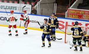 Södertälje SK punkterades fem gånger av moraoffensiven. Själva lyckades man uppbåda ett mål mot gästerna. Foto: Oliver Åbonde
