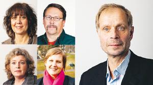 Splittring. Margareta Milde Säterli och Jonny Degerman riktar kritik mot Åsa Wennerfors och Karin Karlsbro. Till höger i bild: Hans Andersson.