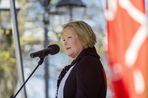 Ulrika Falk, oppositionsråd, talade även i Societetsparken.