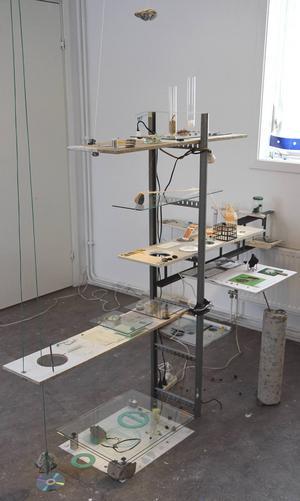 Konstruktioner av konstnären Harpa Dögg Kjartansdóttir i Galleri Lars Palm.