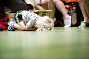 Gymnastikuppvisning för släkt och vänner avslutade lägret.