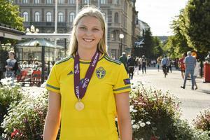 Ellen Löfqvist inledde Sveriges målskytte i jakten på nya EM-framgångar.    Arkivbild: Emil Nilsson