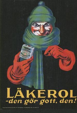 Det sägs att Adde               Holmstedt hade Adolf Ahlgren själv som modell när han tecknade den här karikatyraffischen.