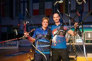 Andreas Skalberg och schweizaren Florian Faber efter finaldusten i Berlin Open.