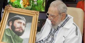 En ung och gammal Fidel Castro.