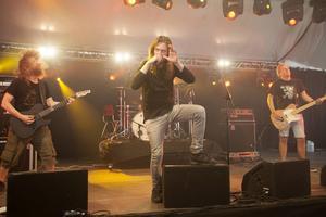 Metalbandet Skuld gjorde sin andra spelning någonsin.