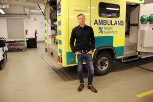 Peter Sund, chef för ambulansverksamheten på Region Gävleborg – Bild: Linnea Brundell