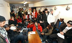 Fullt hus. Så här såg det ut när NA hälsade på i studion i mars 2009.