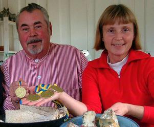 Sivert Rosenholm, Hällesjö chark och Ann Klensmeden, Åsbergets getgård, är två av deltagarna vid Smaklustmässan i Stockholm.