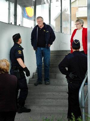 Östersundspolisen avrådde de som skulle in och handla på matvaruhuset Lidl eftersom polisen trodde att det pågick ett rån.