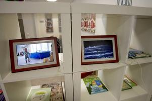 BILDVISNING. När föräldrarna på nya Lindbacka förskola kommer och hämtar sina barn på eftermiddagen kan de titta på bildspel från dagens aktiviteter.