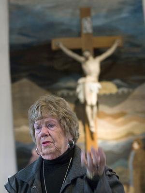 Alice Palm förestår katolska kapellet i Forsa.