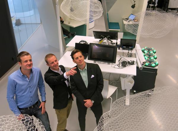 Anders Edström, Fredrik Edström och Victor Kjellberg har fokus på rymden i sitt företag Sally R.
