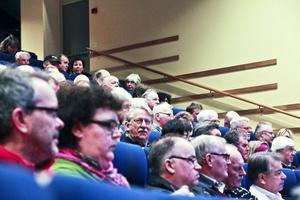 Fullsatt i Hörsalen på Cfl. Många var intresserade av att få svar på sina frågor.