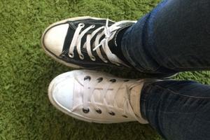 När strumporna inte syns - rockar skorna istället för sockorna! Foto: Viktoria Persson