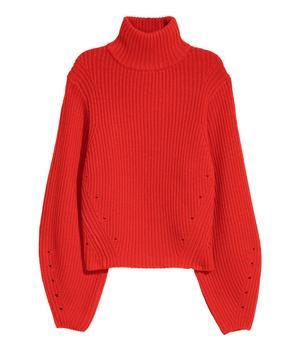 Tomatröd tröja i kashmirmix från H&M, 499 kronor.