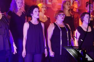 Cantitokören från Sundsvall var först ut på scen i tävlingen.