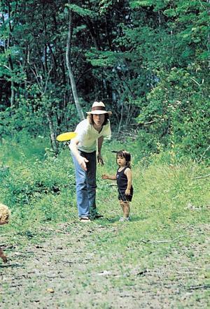 John Lennon tillsammans med sonen Sean. Foto: EMI