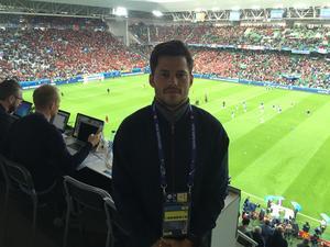 Sportens Oskar Lund var på plats i Saint-Étienne på Stade Geoffroy-Guichard när Island EM-debuterade mot Portugal.