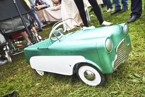 En trampbil från 1959 var den minsta bilen som visades på bilträffen.