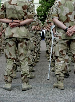 I väntan på medalj. En styrka som tjänstgjort i Afghanistan samlas för medaljutdelning i juni.För att veta om den nya försvarsmodellen blir lika prisbelönad som soldaternas insatser får vi vänta lite längre.