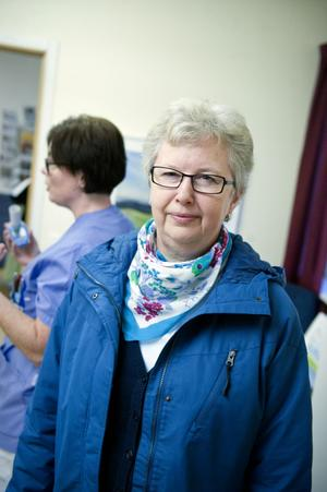 Ragnhild Tjäder, Falun: Det är ett bra initiativ från vårdcentralen. Jag passar på att spontantesta mig.