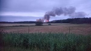 Soptippsbranden vid Norsa när Olle var ute på morgonpromenad med hunden.